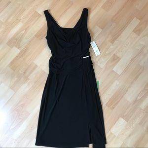 S. L. Fashions Cowl Style Neckline Knit Dress